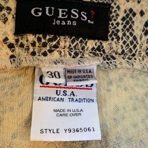 Guess Jeans - Vintage guess snakeskin print denim jeans